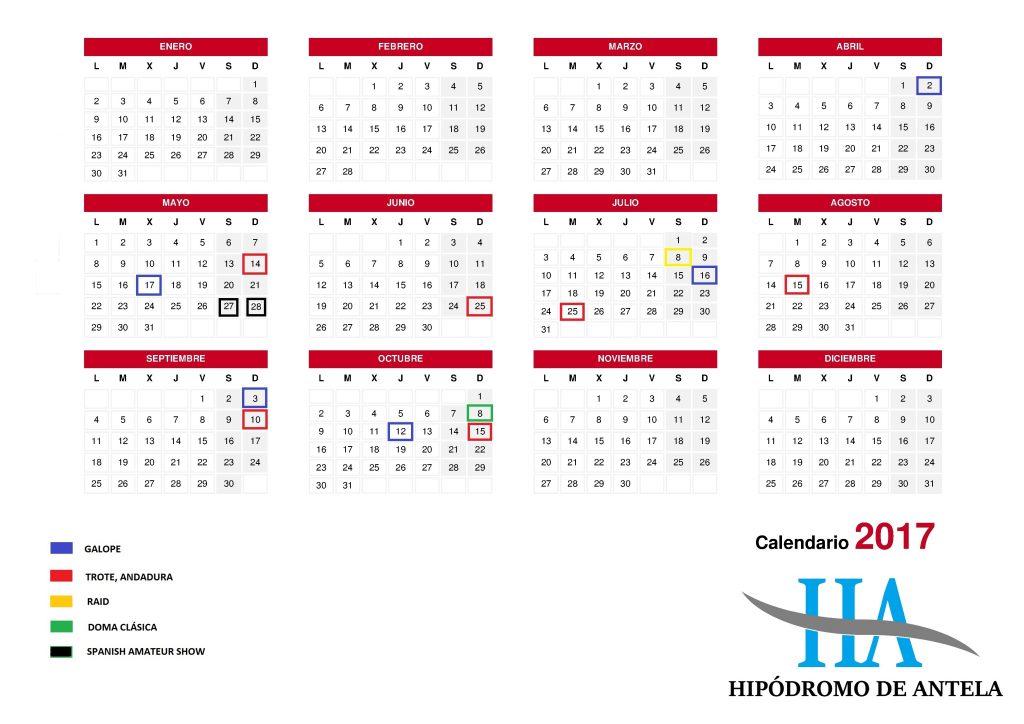 calendario- 2017 eventos